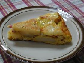 スペイン風オムレツ・ポテト&ベーコン__Spanish Omelet/Potato&Bacon with Garlic Mayonnaise Sauce