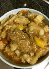白ゴーヤと夏野菜の酢味噌炒め煮
