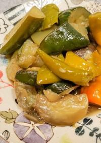 手抜き調理で夏野菜の煮浸し