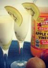 リンゴ酢とキウイの豆乳スムージー
