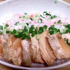 彩り◎炙りサーモンの漬け丼