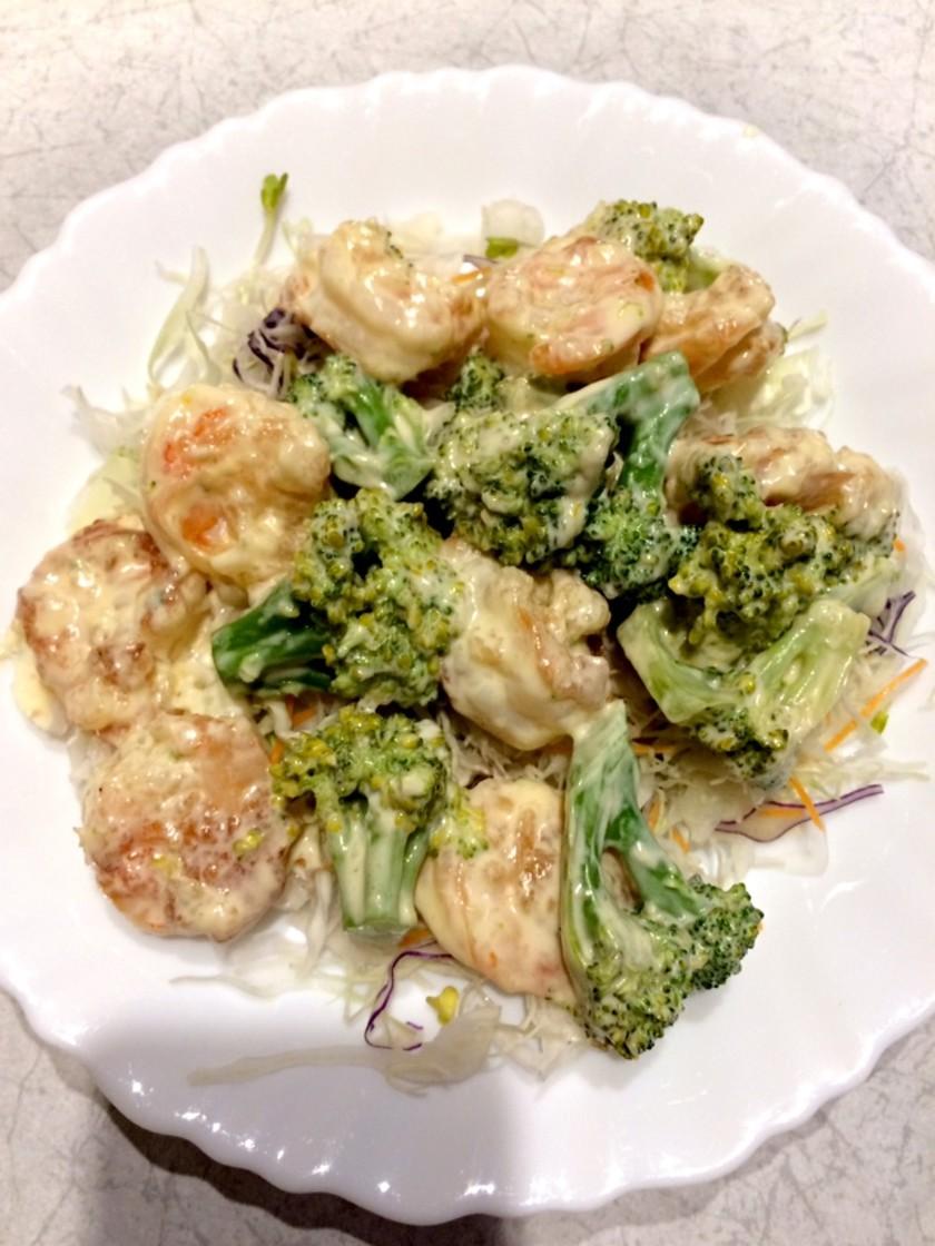 絶品☆エビマヨ☆野菜たっぷり食べよう!