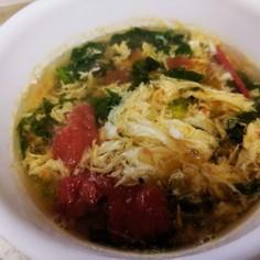 糖質オフ!トマトとレタスの簡単スープ