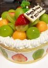 シャインマスカット☆メロンのムースケーキ