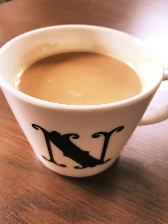 黒糖ミルクティー。レンジでお手軽