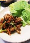 豚バラ肉の韓国風炒め