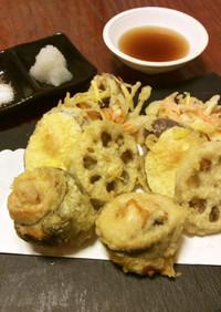 鮭白子と秋刀魚の天ぷら