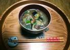 夏の味噌汁⛅松山あげと揚げ茄子と茗荷☺⛄