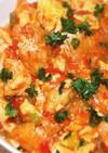 油揚げとトマトの中華卵炒め
