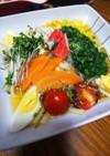 8月31野菜の日サラダ♥️うどん☺️♥️