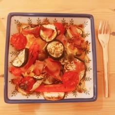 かんたん!生ハムと野菜のオーブン焼き♪