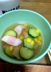 ズッキーニとベーコンのスープ