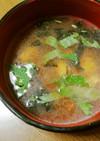 大葉とアオサの味噌汁