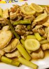 レモン香る 鶏むね肉とアスパラのソテー