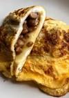 シンプルに!納豆とチーズのオムレツ