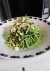 豆苗と豆腐のナムルサラダ