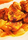 オーブンまかせ☆鶏もも肉のバター醤油焼き
