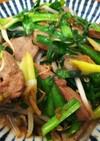 簡単美味・豚レバーとニラとモヤシの塩炒め