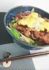おひとり様ランチ*牛肉サラダ丼