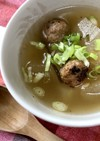 冬瓜とつくねの生姜スープ