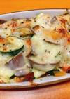 夏野菜のごろごろチーズ焼き