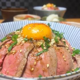 簡単!ローストビーフ丼❀(牛たたき丼)