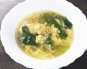 手抜きレタスープ