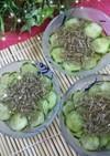 【じゅんさい】と胡瓜の酢の物