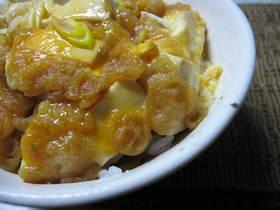 お手軽☆お豆腐と天かすの卵とじ丼