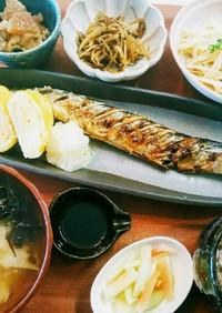 朝ごはん!秋刀魚の塩焼き