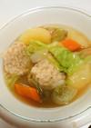 ★ふわふわ鶏団子の野菜スープ