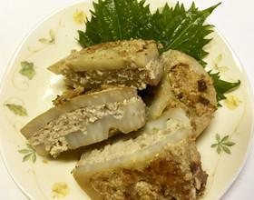 レンコンのはさみ焼き(おから入り)