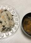 秋鮭とワカメの炊き込みご飯