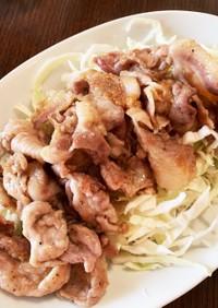 豚ロース薄切りの生姜焼き