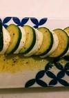 ズッキーニとモッツァレラチーズの前菜