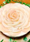 桃のコンポートでヨーグルトムースケーキ♡