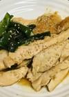 鶏むね肉の薄切り生姜焼き