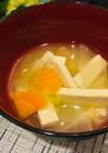 味噌スープ♪家にある材料だけ!