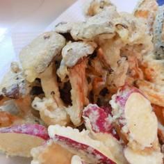 一番おいしいひらたけの食べ方~天ぷら~