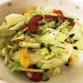 レタスとパプリカのピクルスサラダ
