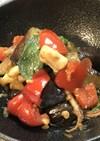 イカと茄子の納豆味噌炒め