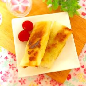 魚肉ソーセージと卵焼きの春巻き
