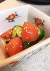 キュウリとトマトのササっと和風マリネ