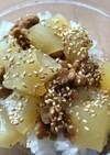 納豆とウリの丼