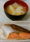 ✨鮭の生姜焼き&タマネギ味噌汁✴
