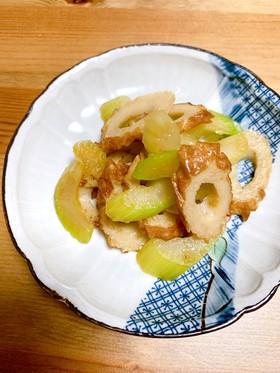 お弁当にも♪セロリとちくわの柚子胡椒炒め