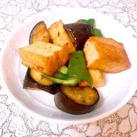 ♡厚揚げと夏野菜の甘辛炒め♡