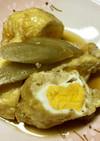 油揚げの袋煮(卵・お餅・おから)