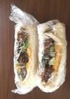 エゴマの葉でサンドイッチ
