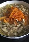 鶏鍋 白湯スープ仕立て